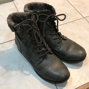 Olive Green Combat Boots